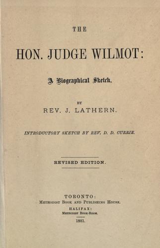 The Hon. Judge Wilmot