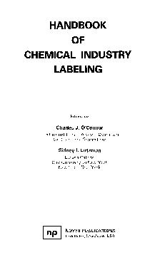 Handbook of chemical industry labeling by