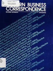 Cover of: Modern business correspondence | Donna C. McComas