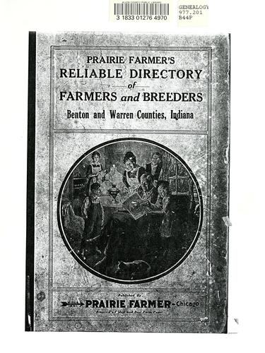 Prairie Farmer's directory of Benton and Warren Counties, Indiana. by
