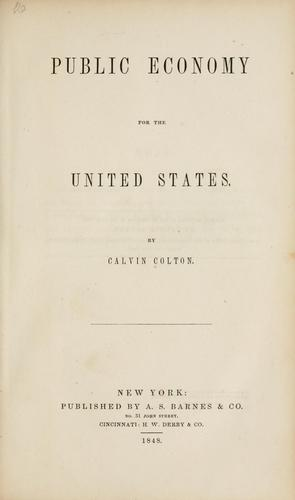 Public economy for the United States