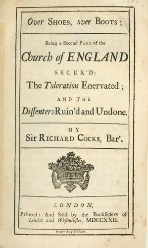 Church of England secur'd by Cocks, Richard Sir