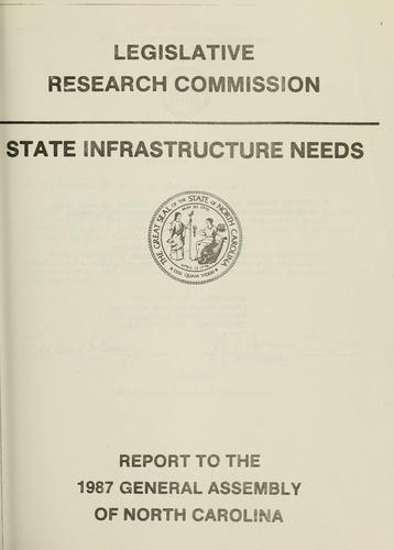 State infrastructure needs