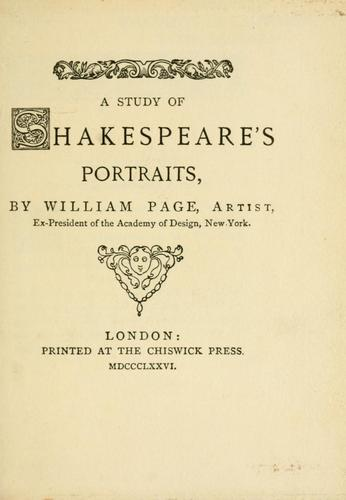 A study of Shakespeare's portraits