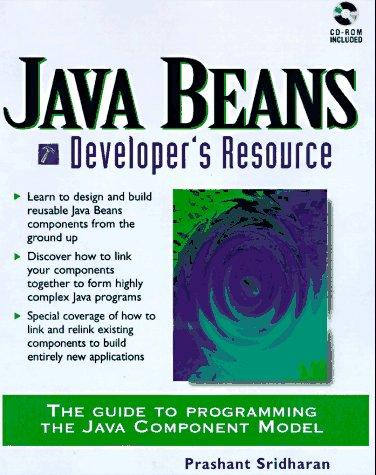JavaBeans developer's resource by Prashant Sridharan