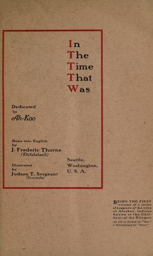 In the time that was by James Frederic Thorne