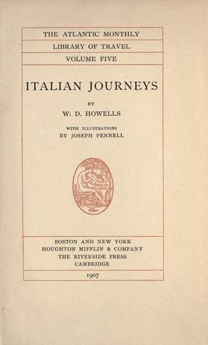 Italian journeys by William Dean Howells