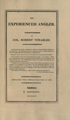 The experienced angler by Venables, Robert
