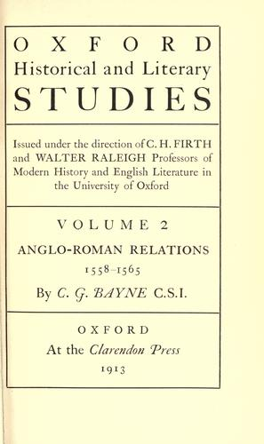 Anglo-Roman relations, 1558-1565.
