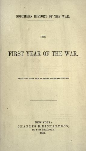 The first year of the war.