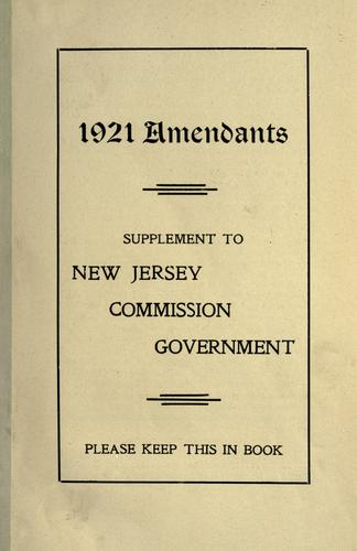 New Jersey commission government law (Walsh act).